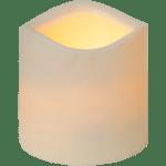 LED āra Svece PAUL, bēša, 7,5cm, IP44, 3xAAA, ar taimeri