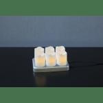 LED sveces lādējamas 6gb., CHARGEME, 7,5cm, IP20, 6xNiMH, ar uzlādes staciju