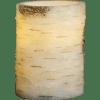 LED vaska svece dekoratīva BJORK, bēša/bērza, 10cm, IP20, 3xAAA, ar taimeri