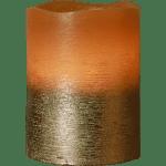 LED Vaska svece COOPER, brūna, 10cm, IP20, 3xAAA, ar taimeri