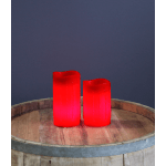 LED Vaska svece DRIP, sarkana, 12,5cm, IP20, 3xAAA, ar taimeri