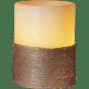 LED vaska svece ar virvi ROPE, ar liesmas atveidošanu, 10cm, IP20, 3xAAA, ar taimeri