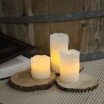 LED Vaska sveču komplekts 3gb. DRIP, ar nopilējuma efektu, 5, 7, 10cm, IP20, 1xCR2032