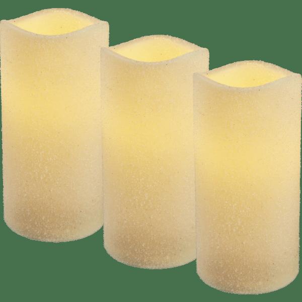 LED sveču komplekts 3gb. Shine, Matētas, 15cm, IP20, 3xAAA, ar taimeri