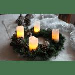 LED Vaska sveces ar pulti 4gb. Star Trading ADVENT, baltas, 10cm, IP20, 2xCR2032, ar taimeri