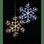 LED āra dekors Sniegpārsla Antarctica, auksti balta, 40cm, 3,6w, IP44