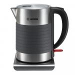 Elektriskā tējkanna Bosch Executive 1.7l, Ner. tērauda/silikona 2200W, TWK7S05