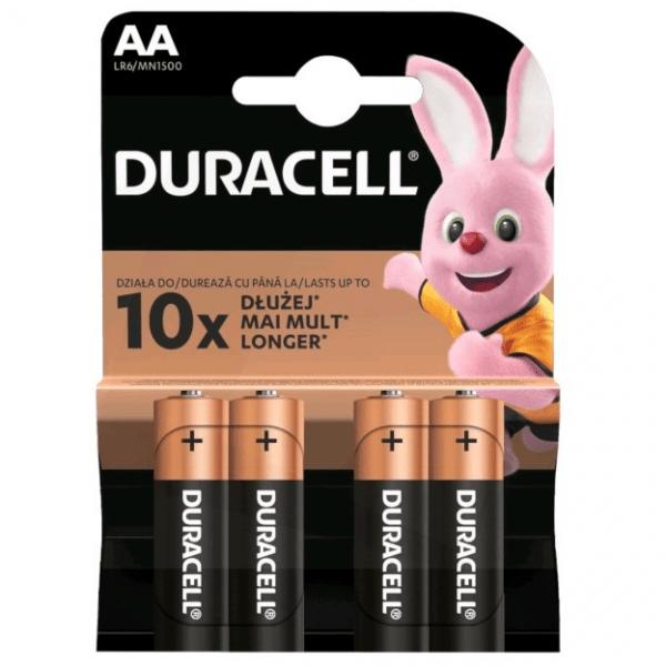 Baterijas DURACELL Basic AA, LR06, 4gb