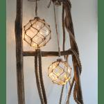LED dekorācija Stikla bumba NOAH, caurspidīga, silti balta gaisma, 13cm, 8LED, IP20