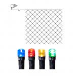 LED āra virtene Tīkls, krāsaina gaisma, 3x3m, 180LED, IP44, 10m strāvas vads