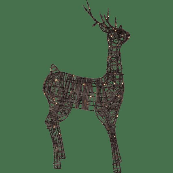 LED āra dekors Briedis VIXEN, 120cm, 80LED, IP44