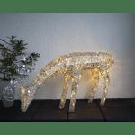 LED āra dekors Briedis SEQUINI, 55x116cm, 96LED, IP44, ar vizuļiem