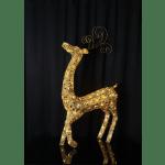 LED āra dekors Briedis zelta SEQUINI, 115x64cm, 96LED, IP44, ar vizuļiem