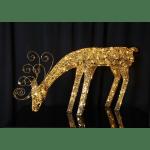 LED āra dekors Briedis zelta SEQUINI, 55x116cm, 96LED, IP44, ar vizuļiem