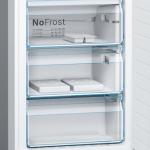 Ledusskapis ar saldētavu Bosch Serie | 8, 203x60cm, inox Ner. tērauda, KGF39PIDP
