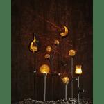 LED dārza gaismekļi ar saules baterijām 2gb. Star Trading Roma Amber, 26,5cm, IP44
