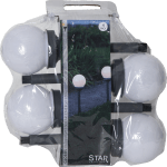 LED dārza gaismekļi ar saules baterijām 4gb. Star Trading Globus 27cm, WW, IP44