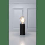 Galda lampa dekoratīva, ar slēdzi, melna, E27, 15cm, IP20, Max 25W, TUB