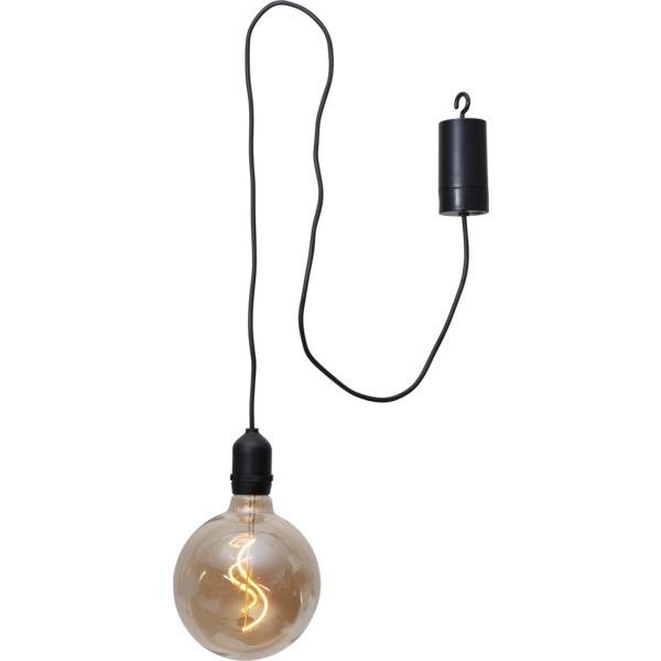 LED āra gaismeklis piekarams Star Trading Bowl, 19,5cm, 1.2W, IP44, 4xAA, ar taimeri