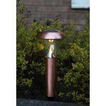 LED dārza gaismeklis ar saules baterijām Star Trading Napoli vara 36cm, 14lm, IP44