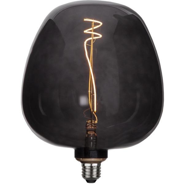 Dekoratīvā LED spuldze Star Trading Black Apple E27, 24.5cm, G190, 2W, 40lm, 2200K
