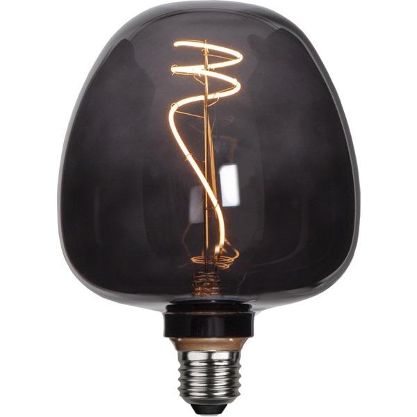 Dekoratīvā LED spuldze Star Trading Black Apple E27, 17cm, G125, 2W, 40lm, 2200K