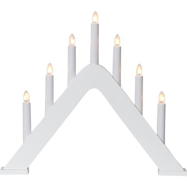 LED dekoratīvais svečturis Star Trading Jarve E10, 36cm, 7LED, IP20, balts
