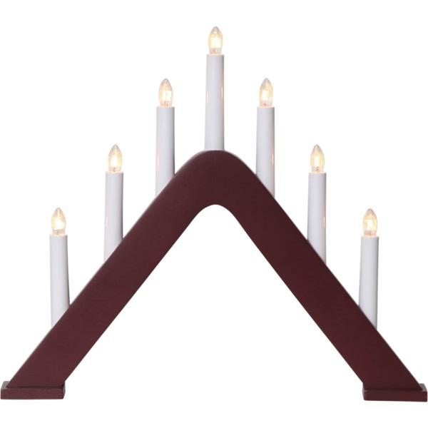 LED dekoratīvais svečturis Star Trading Jarve E10, 36cm, 7LED, IP20, sarkans