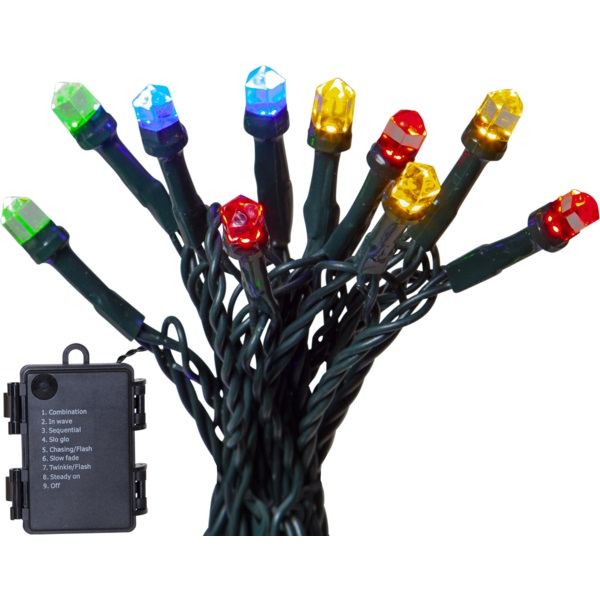 LED āra virtene ar pulti Star Trading DIAMOND MC, 6m, 80LED, IP44, 8režīmi, 4xAA-1xCR2032