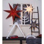 LED dekorācija Zvaigzne GALAXY, Star Trading, zila, 60x60cm, E14, Max. 25W, IP20