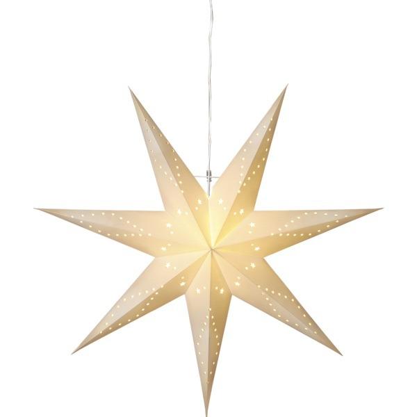 LED dekorācija Zvaigzne KATABO, Star Trading, balta 1x1m, E14, Max. 25W, IP20