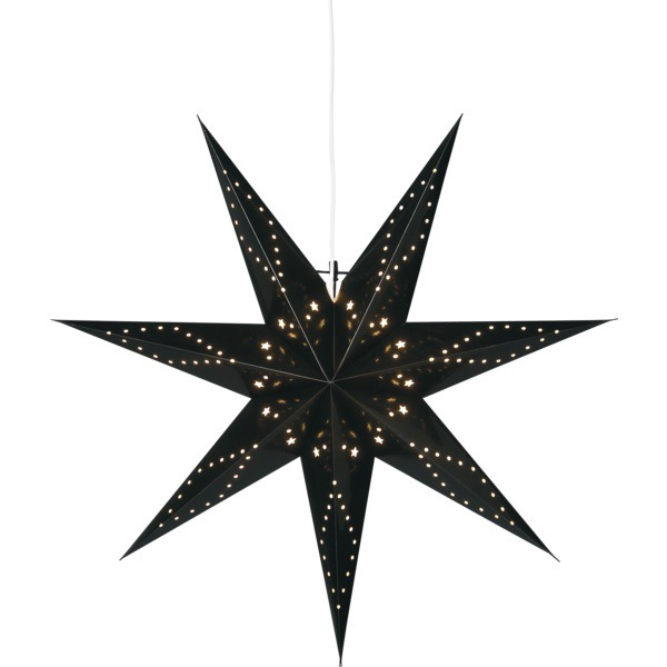 LED dekorācija Zvaigzne KATABO, Star Trading, melna, 1x1m, E14, Max. 25W, IP20