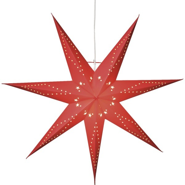 LED dekorācija papīra zvaigzne KATABO sarkana,Star Trading, 70cmx 70cm, E14 Max. 25W, IP20
