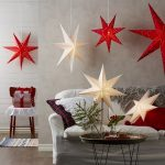 LED dekorācija Zvaigzne SENSY, Star Trading, balta, 70x70cm, E14, Max. 25W, IP20