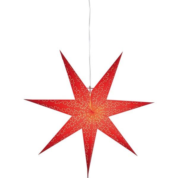 LED dekorācija Zvaigzne DOT, Star Trading, sarkanā, 70x70cm, E14, Max. 25W, IP20