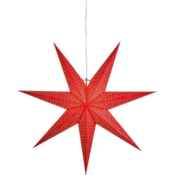 LED dekorācija Zvaigzne DOT, Star Trading, sarkana, 1x1m, E14, Max. 25W, IP20