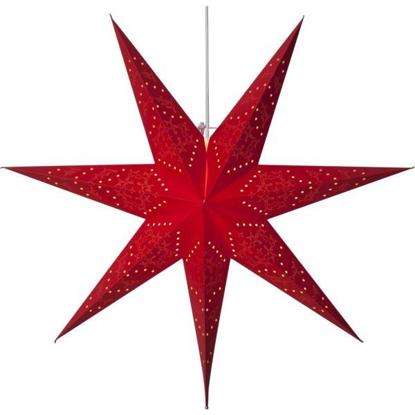 LED dekorācija Zvaigzne SENSY, Star Trading, sarkana, 70x70cm, E14, Max. 25W, IP20