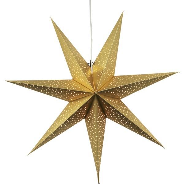LED dekorācija Zvaigzne DOT, Star Trading, zelta, 70x70m, E14, Max. 25W, IP20