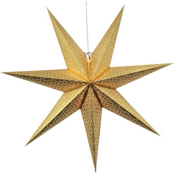 LED dekorācija Zvaigzne DOT, Star Trading, zelta, 1x1m, E14, Max. 25W, IP20