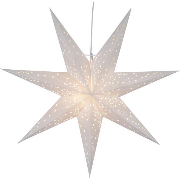 LED dekorācija Zvaigzne GALAXY, Star Trading, balta, 60x60cm, E14, Max. 25W, IP20