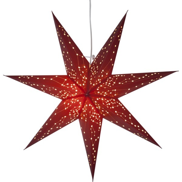 LED dekorācija Zvaigzne GALAXY, Star Trading, sarkana, 60x60cm, E14, Max. 25W, IP20