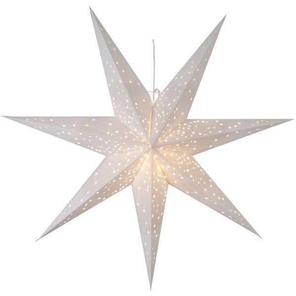 LED dekorācija Zvaigzne GALAXY, Star Trading, baltā, 1x1m, E14, Max. 25W, IP20