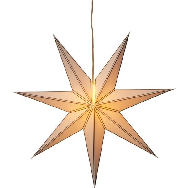 LED dekorācija Zvaigzne NICOLAS, Star Trading, balta, 80x80cm, E14, Max. 25W, IP20