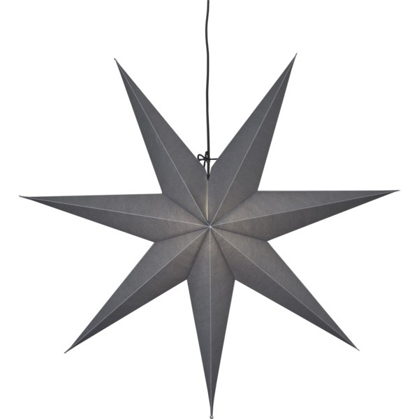 LED dekorācija Zvaigzne OZEN, Star Trading, pelāka, 70x70cm, E14, Max. 25W, IP20