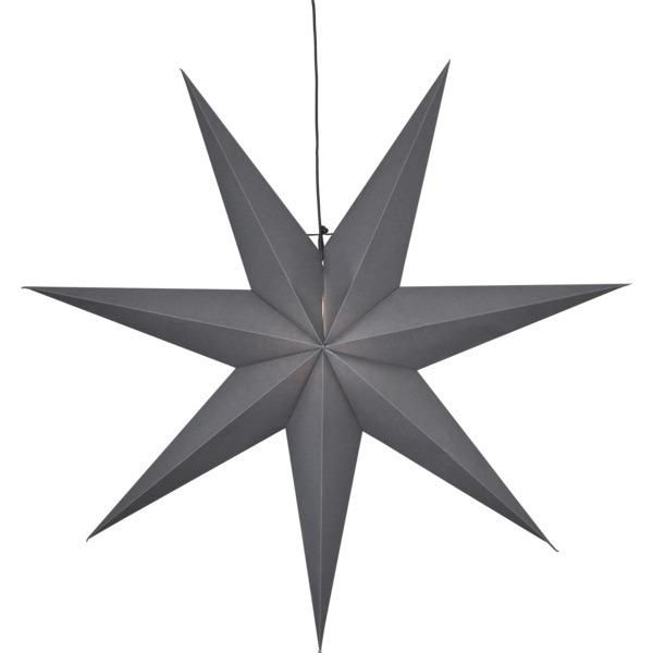 LED dekorācija Zvaigzne OZEN, Star Trading, pelēka, 1x1m, E14, Max. 25W, IP20