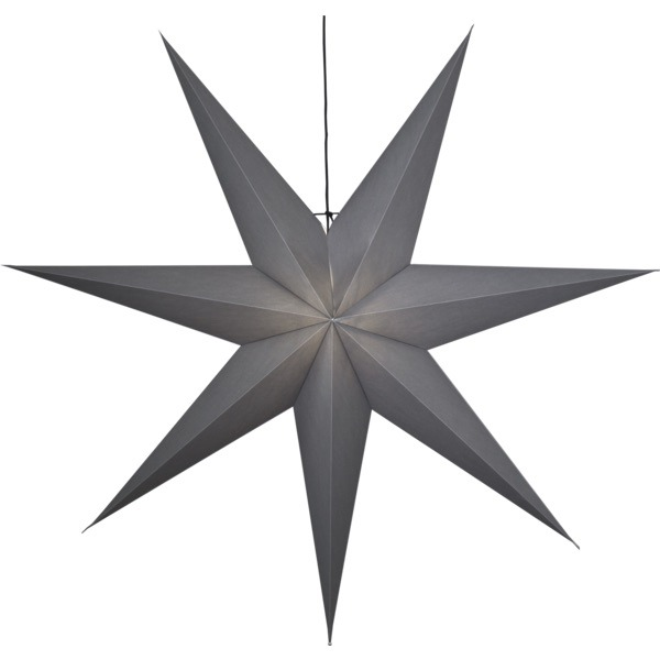 LED dekorācija Zvaigzne OZEN, Star Trading, pelēka, 1.4×1.4m, E27, Max. 25W, IP20