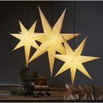 LED dekorācija Zvaigzne FROZEN, Star Trading, balta, 70x70cm, E14, Max. 25W, IP20