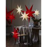LED dekorācija Zvaigzne FROZEN, Star Trading, sarkana, 1.4×1.4m, E27, Max. 25W, IP20