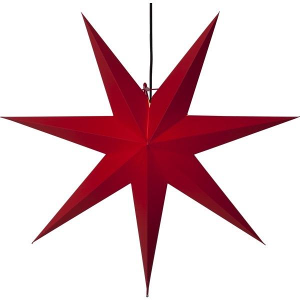 LED dekorācija Zvaigzne FROZEN, Star Trading, sarkanā, 70x70cm, E14, Max. 25W, IP20