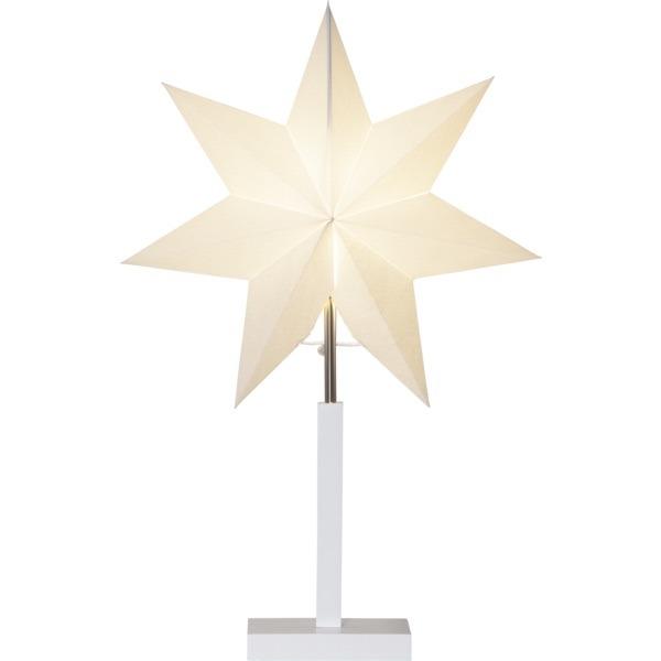 LED dekorācija Zvaigzne KARO, Star Trading, balta, 55x34cm, E14, Max. 25W, IP20